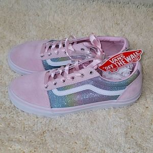 Vans Pink and Glitter Lace Up Sneaker